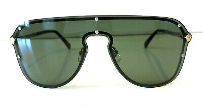 Versace Shield Pilot VE2180 Green Lenses Sunglasses New and Authentic