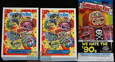 2019 GARBAGE PAIL KIDS WE HATE THE 90'S COMPLETE SET 220 CARDS + FREE WRAPPER (Garbage Pail Kids Cards)