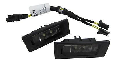 2x Original VW LED License Plate Light+Canbus Connection Cable #3AF