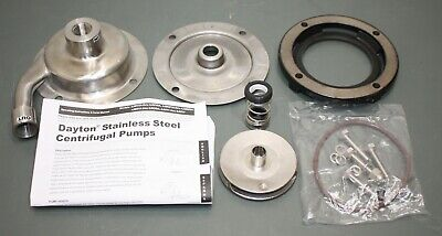 Dayton Centrifugal Pump Head 4jmy1 34 Inlet 12 Outlet 304 Stainless Steel