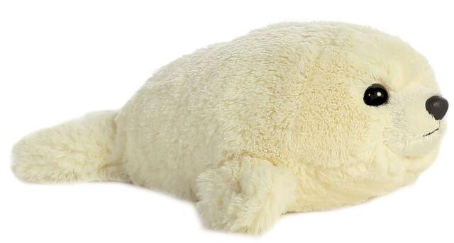 "Mini Flopsies / Flopsie Baby Harp Seal 8"" Plush Cuddly Soft Toy Teddy by AURORA"