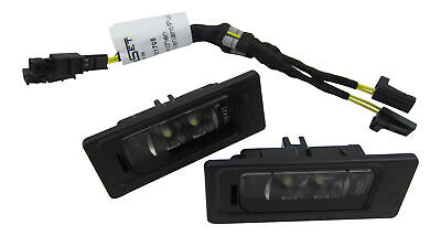 Number Plate Light+Canbus Connection Adapter Cable #3AF 2x Original Vw LED