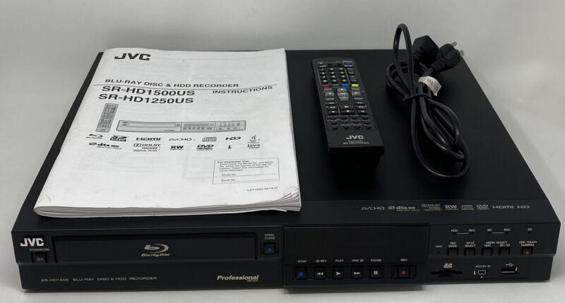 JVC SR-HD1500US Professional Blu-Ray HDD Recorder OEM Remote Manual Parts/Repair
