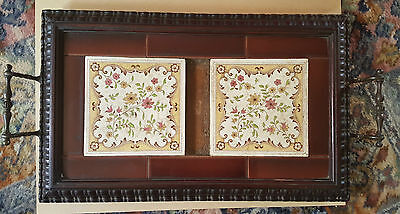 Superb Mahogany Victorian tile Tray