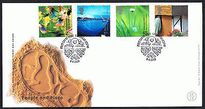 People and Place 2000 First Day Cover - SG2148 to SG2151 Gateshead Cancel