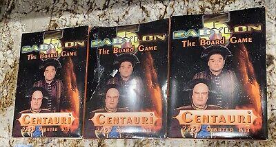 VTG Babylon is the 5 The Board Game Centauri Starter Kit 2259 New Three Of Them!