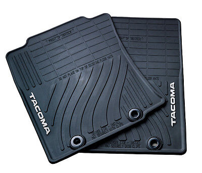 All Weather Floor Mats for 2012 Double Cab Toyota Tacoma-4 Piece, New,OEM Double Cab 4 Piece