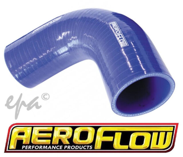 "AEROFLOW 90 DEGREE SILICONE HOSE ELBOW 4.00"" 102MM I.D 120MM LEG BLUE AF9003-400"
