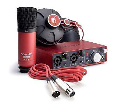 Scarlett 2i2 Studio Bundle (1st Gen) with Headphones, Microphone and Software
