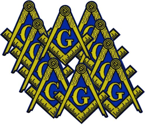"10 PCS 4"" LARGE Masonic Embroidered PATCH Iron-on Square & Compass Emblem Badge"