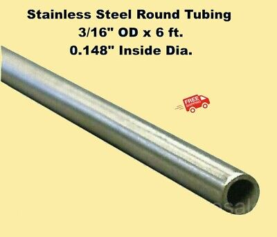 Round Tubing 304 Stainless Steel 316 Od X 6 Ft. Welded 0.148 Inside Dia.