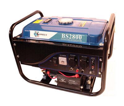Generador de Gasolina Arranque Eléctrico 2,8Kw Cargador Baterias 2 Enchufe 220V