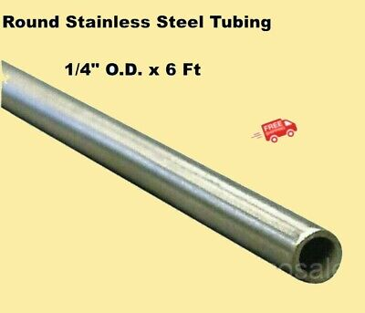 Round Tubing 304 Stainless Steel 14 Od X 6 Ft. Welded 0.194 Inside Dia.