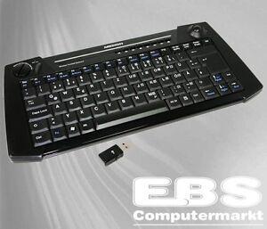 Medion Wireless Trackball Keyboard Tastatur Zippy Rf666 + RX41 2,4GHz Neu