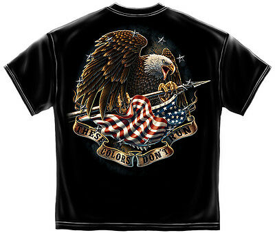 New THESE COLORS DON'T RUN EAGLE   T-SHIRT  (Color Run Shirts)