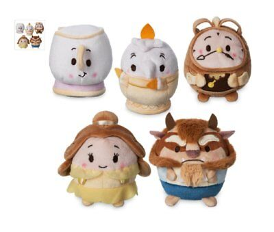 Disney Beauty & The Beast Ufufy Scented Plush Set of 5 Belle Beast Lumiere Chip