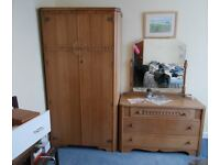 house clearance mixed lot of furniture sofa arm chair, wardrobe & chest,dresser,corner cabinet,ect