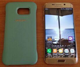 Immaculate 64gb Galaxy S6 Edge Gold Platinum LOOKS LIKE NEW!