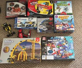 Boys 5+ toys 9x piece game bundle £30