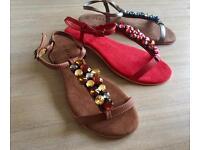Ladies Jigsaw Jewel Sandals -Brand New in Box