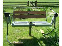 Vintage Austrian ski chairlift bench