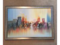 Canvas painting of New York skyline