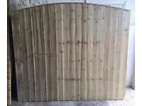 HIGH QUALITY PRESSURE TREATED STRAIGHT TOP/ WAYNEYLAP/ BOW TOP WOODEN FENCE PANELS 🌳