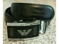 Men armani leather designer belt perfect gift