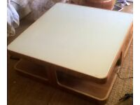 large Dwell coffee table glass/wood £50