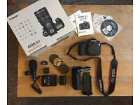 Canon 6D, boxed, original battery and charger, plus accessories.