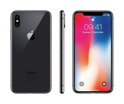 Apple iPhone X 64GB Factory Unlocked - Space Gray Smartphone A1865 64 GB 10 4G