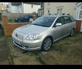 54 Toyota avensis estate leather alloys fully loaded