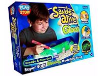 Sands Alive Glow in the Dark Create Glow Set - Rrp £ 25 *SALE*