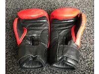 Junior boxing gloves 6oz red black