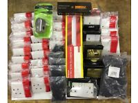 BUNDLE OF NEW ELECTRICAL FITTINS PRICE IS FOR THE LOT. BARGAIN