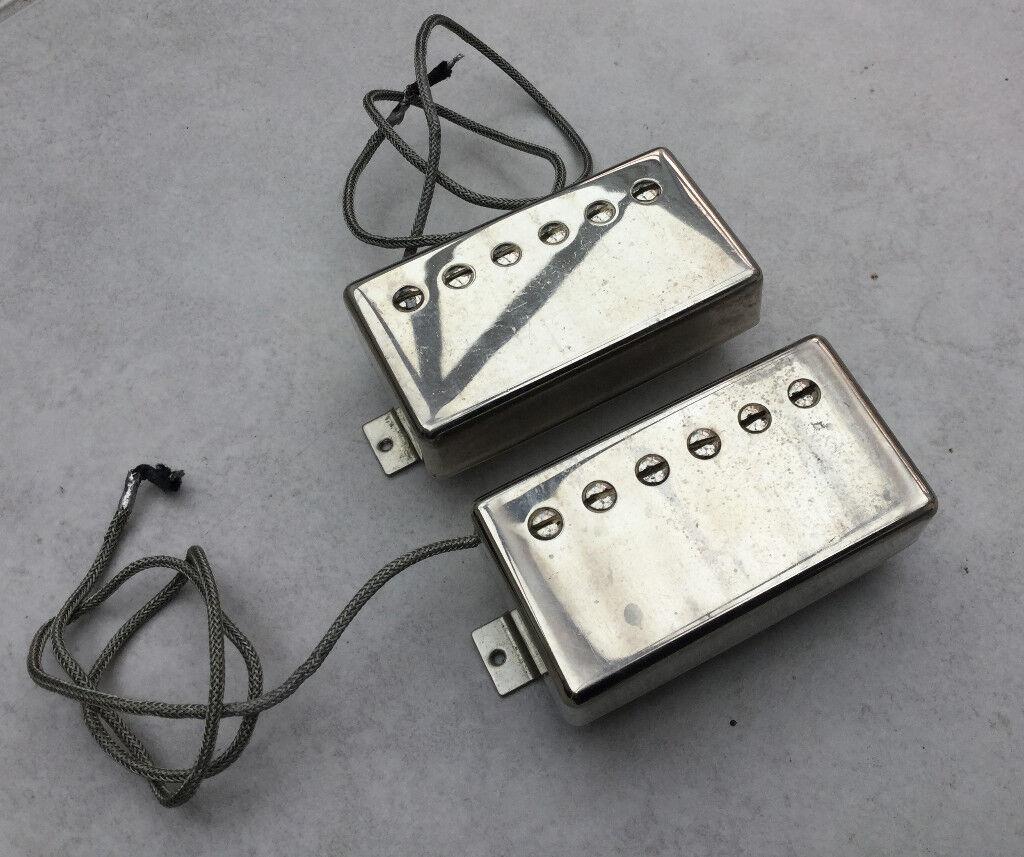 Pair of Gibson Burstbucker Pro pickups in Nickel