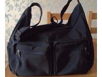 Black Holdall, Gym Bag, Overnight Bag, Weekend Bag.