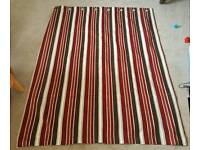 2 x Pair of Striped Curtains