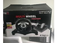 Multi Wheel gaming accessory for PS3, PS2 and windows