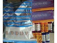 Kodak Portra Tmax Fuji Ilfod Delta 100 160 400 800 3200; MF Medium Format 120 Film