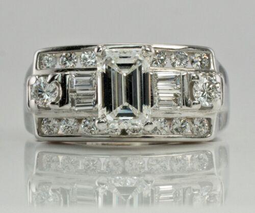 Diamond Engagement Ring 14k White Gold 1.14cts Vs1 Fg