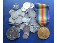 WANTED ALL COLLECTABLES COINS STAMPS MEDALS IN THIS AREA FOR ONE DAY MONDAY 4-12-17 CALL 07979808744