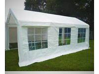 Marquee 3mx6 m with side panels and integrated windows