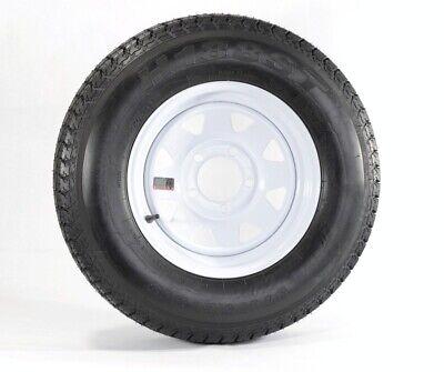 Trailer Tire On Rim ST175/80D13 175/80 D 13 Load C 5 Lug White Spoke Wheel