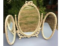 Vintage dressing table mirror, shabby chic, decorative