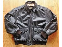 A2 US ARMY AIRFORCE LEATHER FLYER'S JACKET