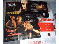 Job Lot: Original UK Quad Cinema Posters - 10 x MINT condition Posters from the 1990s