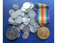 COINS STAMPS MEDALS BANKNOTES SMALL COLLECTABLES CALL PETE ON 07979808744