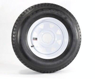 "eCustomrim Eco Trailer Tire & Rim ST175/80D13 13"" Load C 5 Lug White Spoke 58848"
