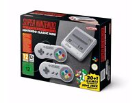 Nintendo SNES Mini - Brand New Sealed Box - 2 Controllers, 21 Games